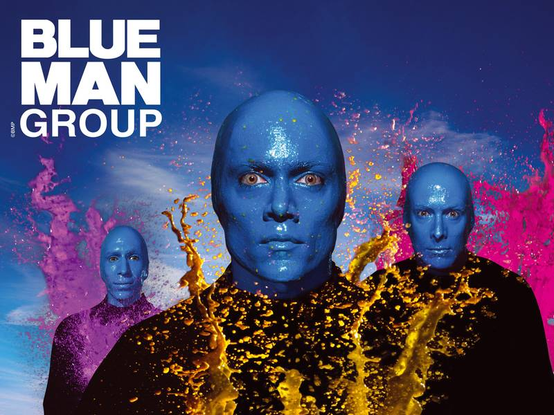 Entradas al show de Blue Man Group