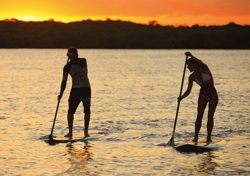 P Galinhas - Lecciones de stand up paddle boarding
